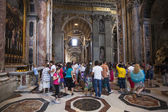 Crowd of tourists Indoor St. Peter — Stock Photo