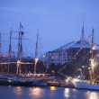 Illuminated The tall ships races ships in Riga — Stock Photo #33076921