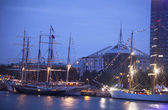 Illuminated The tall ships races ships in Riga — Stock Photo