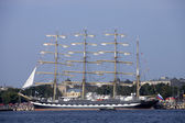 ρωσικό πλοίο ψηλός kruzenshtern — Φωτογραφία Αρχείου