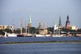 Tall ships in Riga — Stock Photo