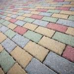 Colorful concrete brick pavement — Stock Photo