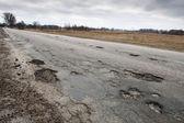 Damaged road — Stock Photo