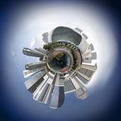 Singapore skyline miniplanet — Stock Photo