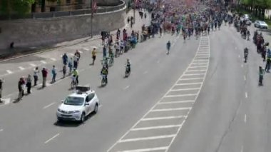 Timelapse of City Marathon mass start — Vídeo de stock