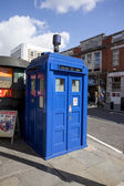 Traditional British public call police box  — Stock Photo