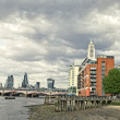 Skyline of City of London with Blackfriars Bridge — Stock Photo #49319175
