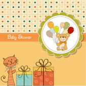 Funny cartoon baby shower card — Stock Photo