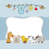 Baby boy shower card — Stockfoto