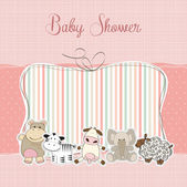 Bebek kız duş kartı — Stok fotoğraf