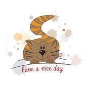 Roztomilé koťátko vám přeje pěkný den — Stock fotografie