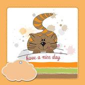 Cute kitty wenst u een mooie dag — Stockfoto