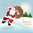 Santa Claus, greeting card design in vector format — Stock Photo #14795237