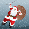 Santa Claus, greeting card design in vector format — Stock Photo #14795255