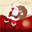 Santa Claus, greeting card design in vector format — Stock Photo #14795297