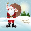 Santa Claus, greeting card design in vector format — Stock Photo #14795321