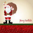 Santa Claus, greeting card design in vector format — Stock Photo #14795335