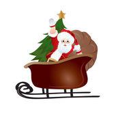 Santa Claus, greeting card design in vector format — Stock Photo