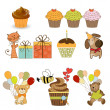 Birthday items set in vector format isolated on white background — Stock Photo #16960347
