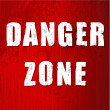 Danger zone old sign — Stock Photo