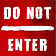 Red do not enter sign — Stock Photo #18725553