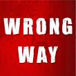 Old Wrong Way Sign — Stock Photo