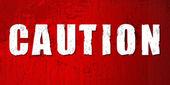 Caution sign — Stock Photo