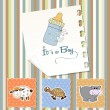 Baby boy shower invitation — Stock Photo