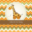 Royalty-Free Stock Photo: Baby shower card with cute giraffe