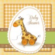 Baby shower card with cute giraffe — Stock Photo #19541075