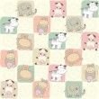 Childish seamless pattern with toys - Stock Photo