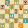 Childish seamless pattern with toys — Stock Photo #19747969