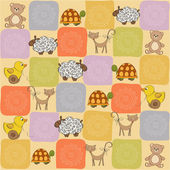 Childish seamless pattern with toys — Stock Photo