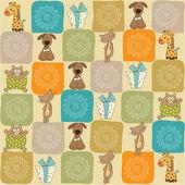 Childish seamless pattern with toys — Stock Photo