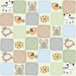 Childish seamless pattern with toys — ストック写真