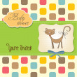 New baby shower card with cat - Stock Photo