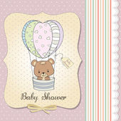 New baby girl announcement card — Stock Photo