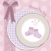 Baby girl shower announcement card — Zdjęcie stockowe