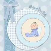 Tarjeta de anuncio de bebé con bebé — Foto de Stock