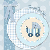 Baby boy announcement card — Stock Photo
