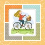 Happy girl on bike — Stock Photo #22301361