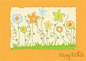 Velikonoční přání s jarní květy — Stock fotografie