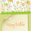 Stock Photo: Easter greeting card with spring flowers