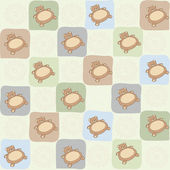 Childish seamless pattern with teddy bear — Stock Photo
