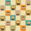Childish seamless pattern with cupcakes — Stock Photo #24551463