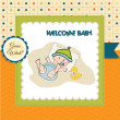Baby boy shower card — Stock Photo #26114151