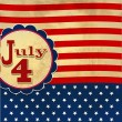 American flag background with stars symbolizing 4th july indepen — Stockfoto