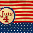 Stock Photo: Americflag background with stars symbolizing 4th july indepen