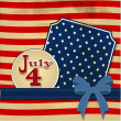 American flag background with stars symbolizing 4th july indepen — Stock Photo