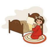 Little girl is preparing for sleep — Stock Photo
